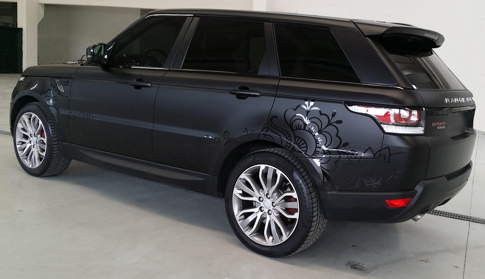 """Range Rover Sport - Wrapping Auto """"Nero Opaco"""" Decorazioni ..."""
